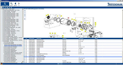 The spare parts catalogue in the Truetzschler online shop shows the customer which spare parts are relevant to their machine configuration, and provides an overview of the most important details. © 2021 Truetzschler