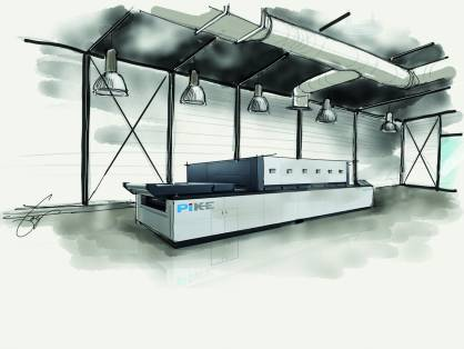 The Experience Center will feature operational SPGPrints PIKE and JAVELIN digital textile printers for demonstrations and customer trials (c) 2017 SPGPrints