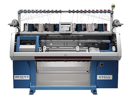 Still flat knitting machine CMS330HP W (c) 2018 STOLL