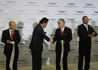 Ribbon-cutting at the opening ceremony (c) 2018 Toray