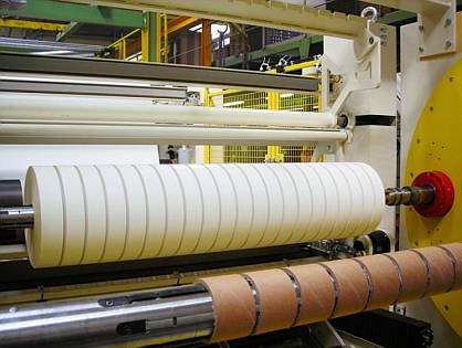 Inline slitting during winding is a speciality of Trützschler winders
