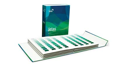 Pic: Color Atlas by Archroma®, a library of 4,320 color swatches, in six volumes. (Photo: Archroma)
