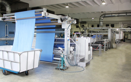 Pic 2: New BRÜCKNER line for knitted fabric at CDL KNITS, Mauritius