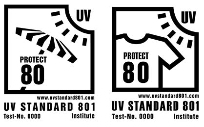 Textiles labelled with UV STANDARD 801 assure consumers of the product's protective capacity. © Hohenstein Group