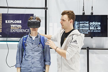 The Digitize Area in Hall A4 provided a glimpse of the digital future. / Image credit: ISPO