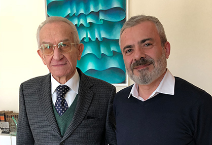 Francesco Ronchi, Managing Director of MASTER, and Enzo Paoli, Managing Director of KARL MAYER ROTAL (on the right)<br />