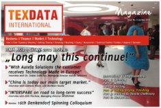 The cover of issue 7/8 of the TexData Magazine